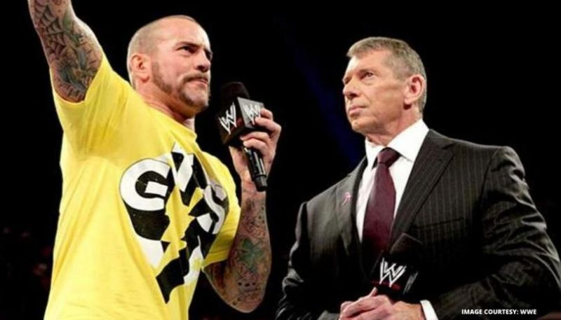 Punk and Vince McMahon