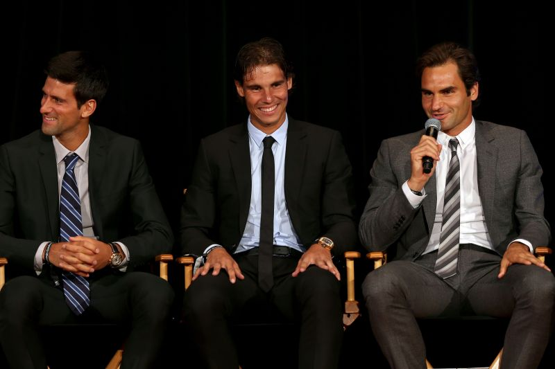 Novak Djokovic, Rafael Nadal and Roger Federer have dominated the tennis world over the last two decades