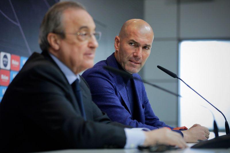 Florentino Perez met with Zinedine Zidane to discuss the team