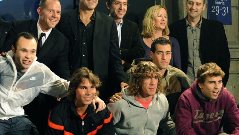 Rafael Nadal beat a host of Spanish football legends