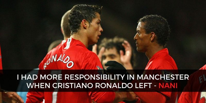 Cristiano Ronaldo and Nani shared the dressing room at Manchester United as well as the national team.