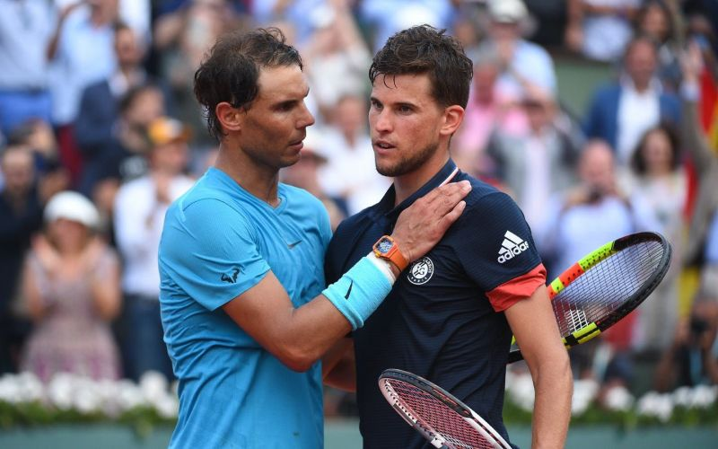 Dominic Thiem after losing to Rafael Nadal at the 2019 Roland Garros final