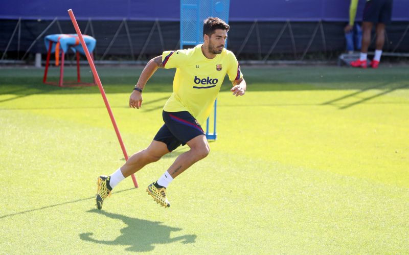 Luis Suárez returned to training with the Barcelona first-team