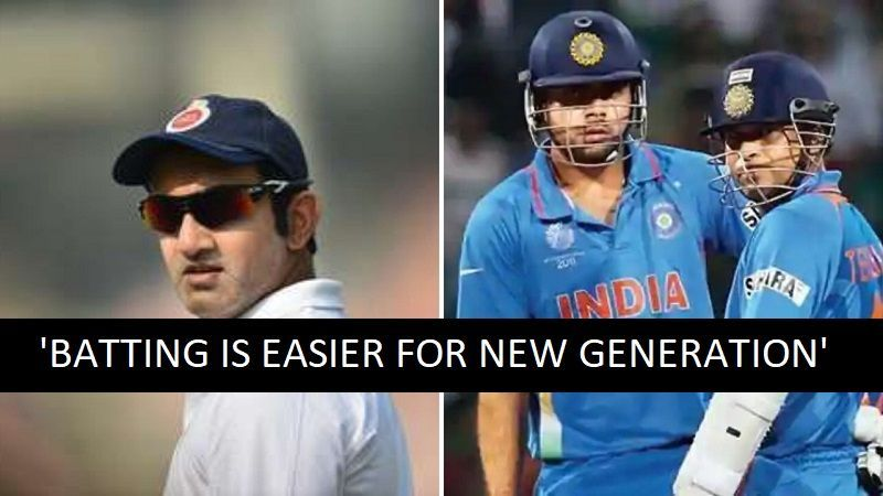 Gautam Gambhir (L) picked between Sachin Tendulkar and Virat Kohli