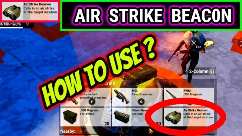 Air Strike Beacon in Payload