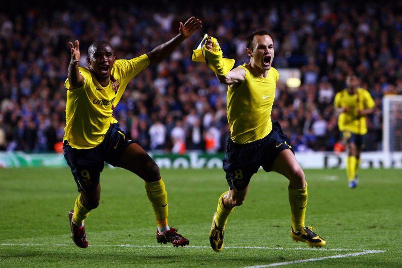 Andrés Iniesta scores the decisive goal