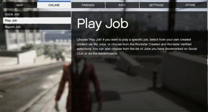 Select the Play Job option