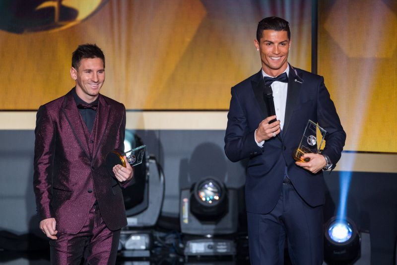 Lionel Messi and Cristiano Ronaldo at the FIFA Ballon d
