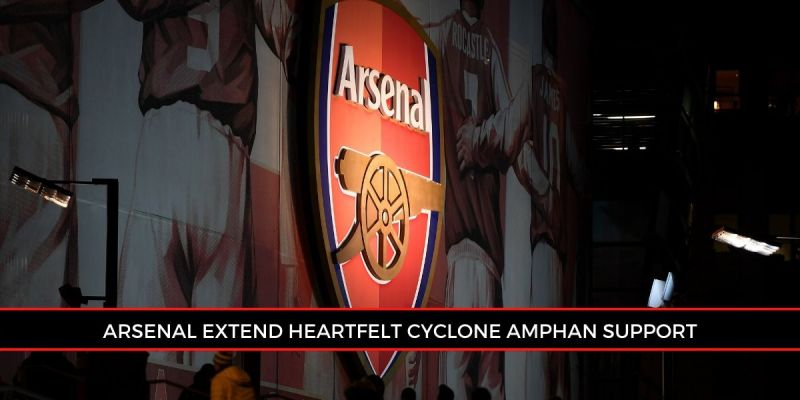 EPL giants Arsenal took to Instagram to extend their support to cyclone Amphan victims