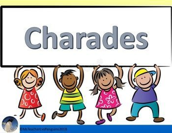 Charades. Image: Teachers Pay Teachers