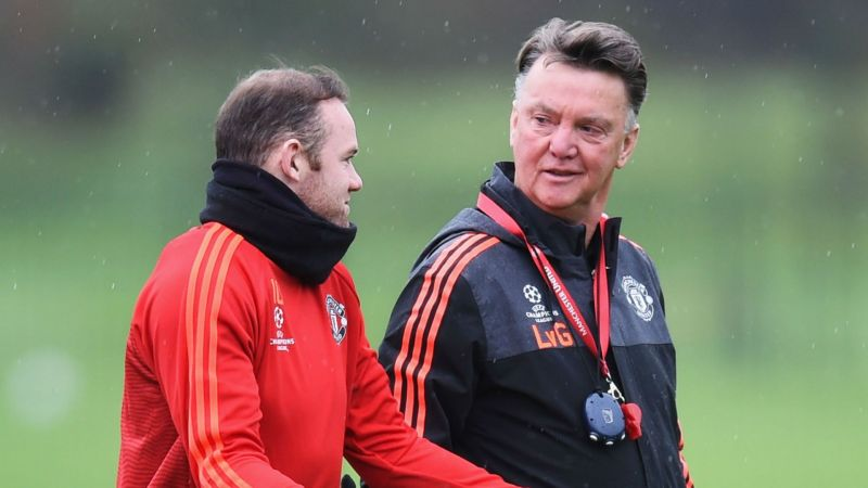 Wayne Rooney and Louis van Gaal - cropped