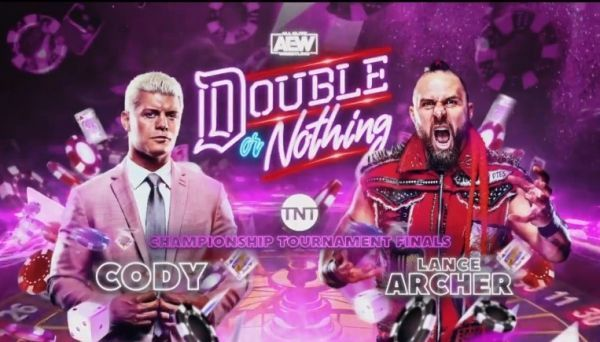 Cody vs. Archer for Double Or Nothing for the TNT Championship Title this Saturday, May 23, 2020.