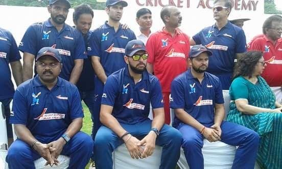 Suresh Raina and Yuvraj Singh during an exhibition match