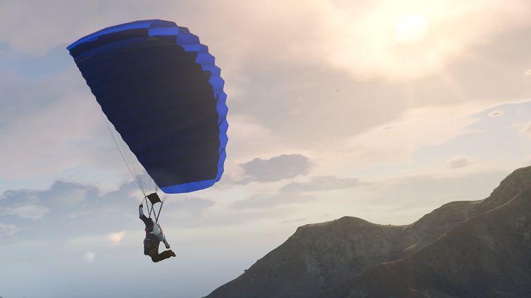 Open your parachute. Image: GTA 5 Mods & Scripts.