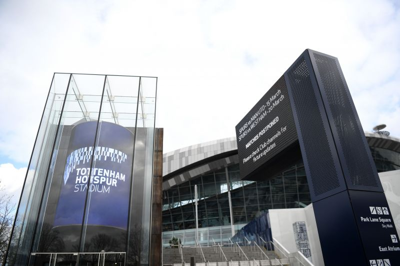 General Views of Tottenham Hotspur Stadium after events postponed due to Covid-19
