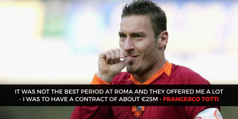 Totti was close to Real, would