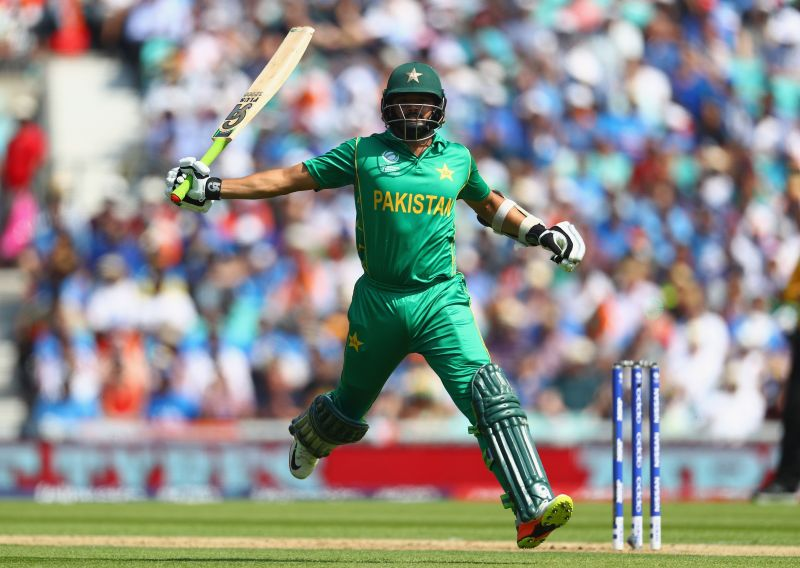 Azhar Ali in action against India in the 2017 CT