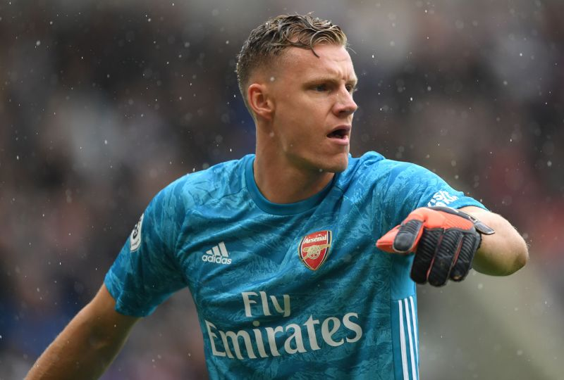 Bernd Leno in Premier League action for Arsenal