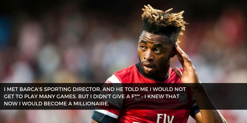 Alex Song has admitted to leaving Arsenal for