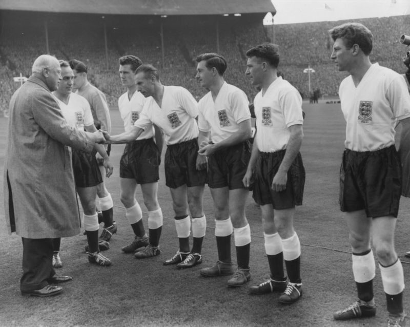Lord Roseberry And Stanley Matthews in 1957