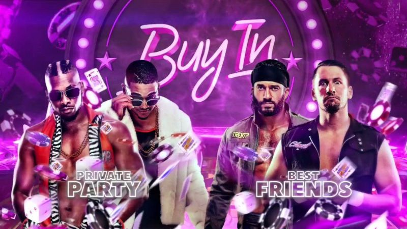 Double or Nothing 2020: The Buy In Pre-show: Best Friends vs Private Party for a Tag Team Title future title shot.