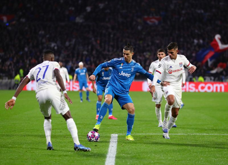Ronaldo and his Juventus teammates struggled against Lyon in their surprise first leg defeat