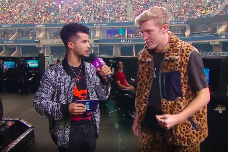 Tfue being interviewed during the Fortnite World Cup (Image Credits: Epic Games / Polygon)