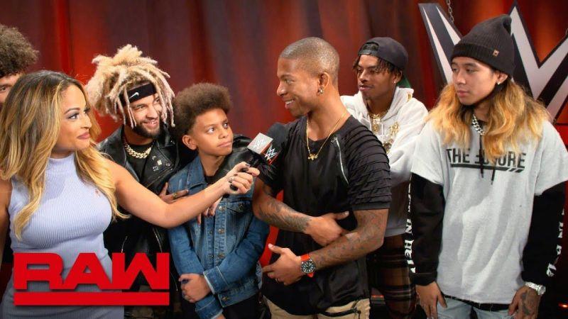 Lio Rush on Monday Night RAW