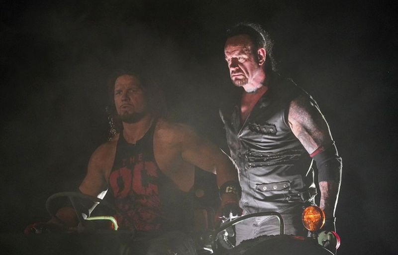 The Undertaker vs AJ Styles from WrestleMania