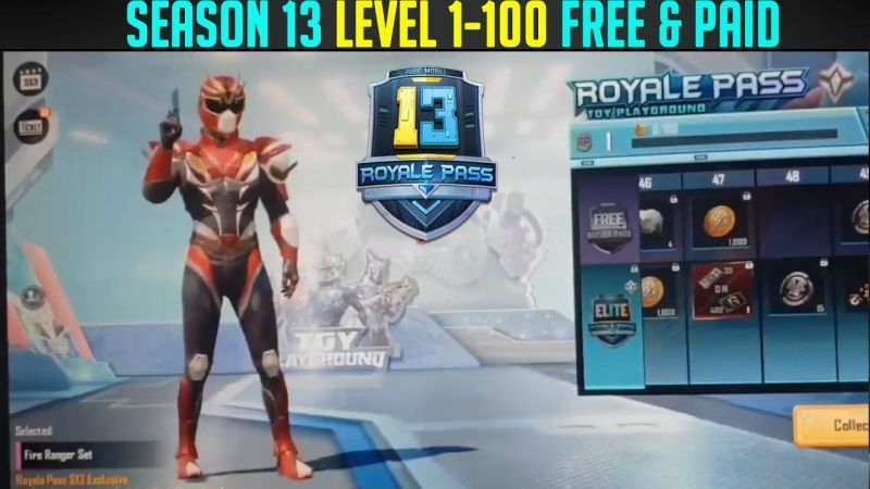PUBG Mobile Season 13 Royale Pass Rewards (Credits: Mr. Ghost Gaming)