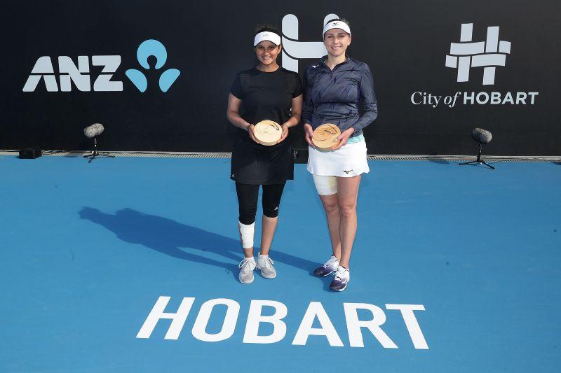 Sania won the Hobart International with partner Nadiia Kichenok this year.