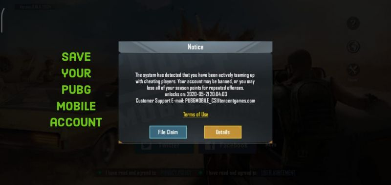 Save Your PUBG Mobile Account From 10 Years Ban