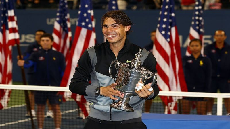 Rafael Nadal is all smiles after winning the 2010 US Open title