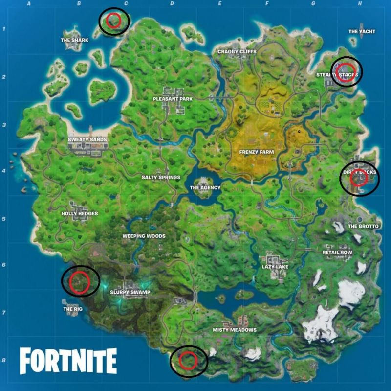 Golden Pipe Wrench Locations in Fortnite - Image credit: Forbes/Epic Games