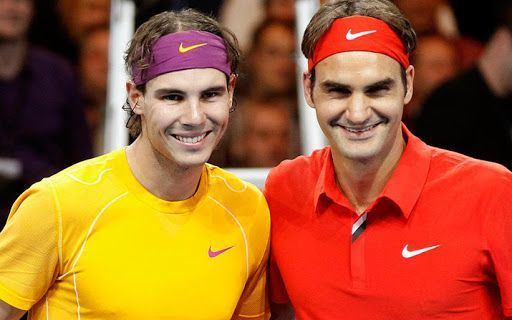 Rafael Nadal and Roger Federer have been ranked the two greatest players of all time by Tennis Channel