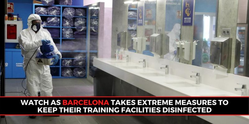 Disinfection of Barcelona Training Ground