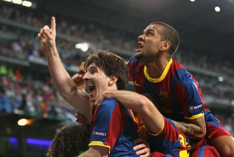 Dani Alves was Lionel Messi