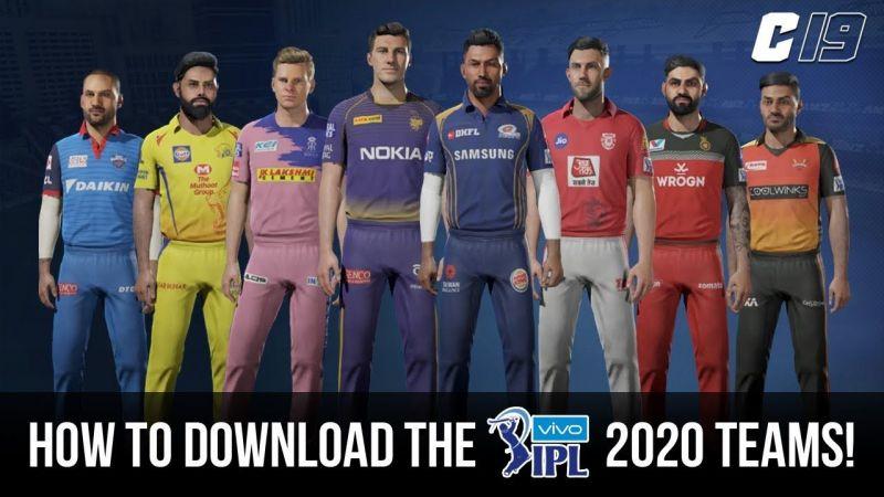 IPL 2020 in Cricket 19; Image via GJWEAR YouTube