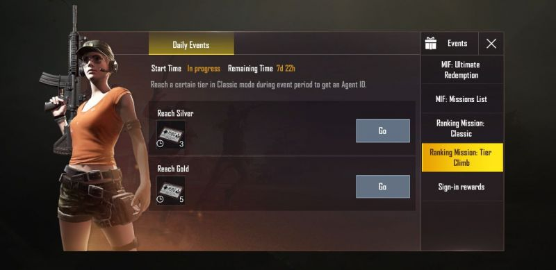 PUBG Mobile Daily Events
