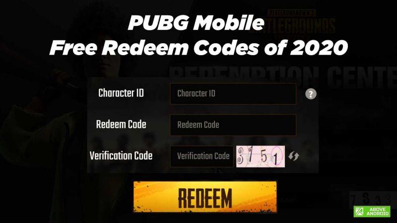 PUBG Mobile Free Redeem Codes