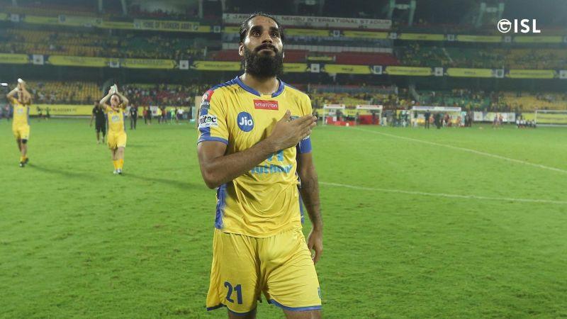 Sandesh Jhingan is set to leave Kerala Blasters (Credits: ISL)