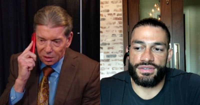 Vince McMahon and Roman Reigns.