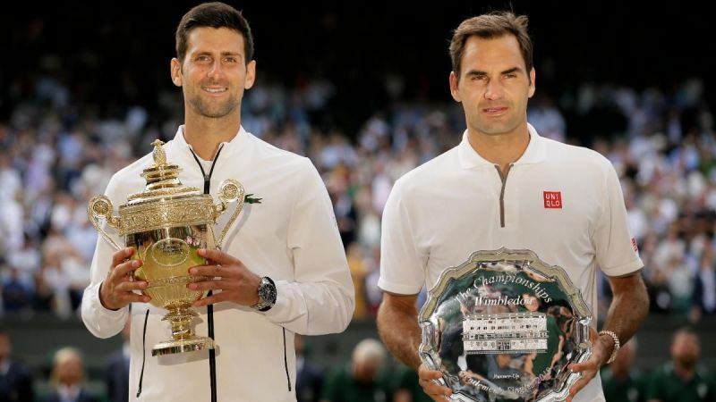 Novak Djokovic saved championship points to down Roger Federer in the 2019 Wimbledon final.