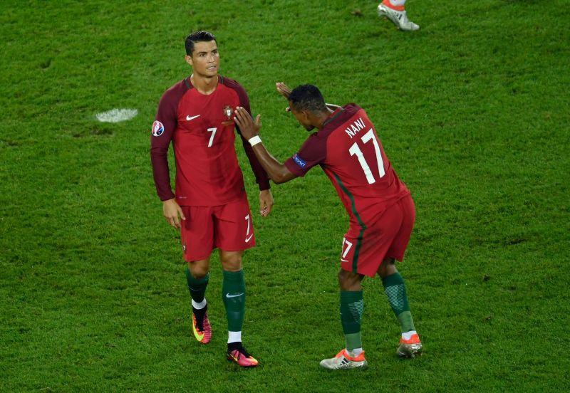 Cristiano Ronaldo and Nani won Euro 2016 together