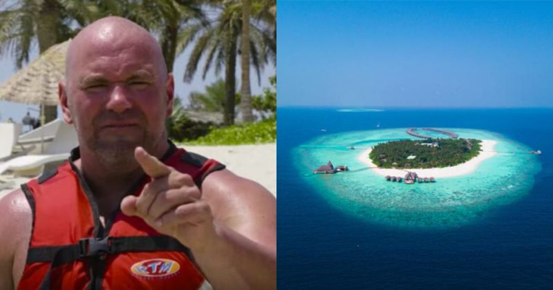 Dana White said that he will stay on the island for a month.