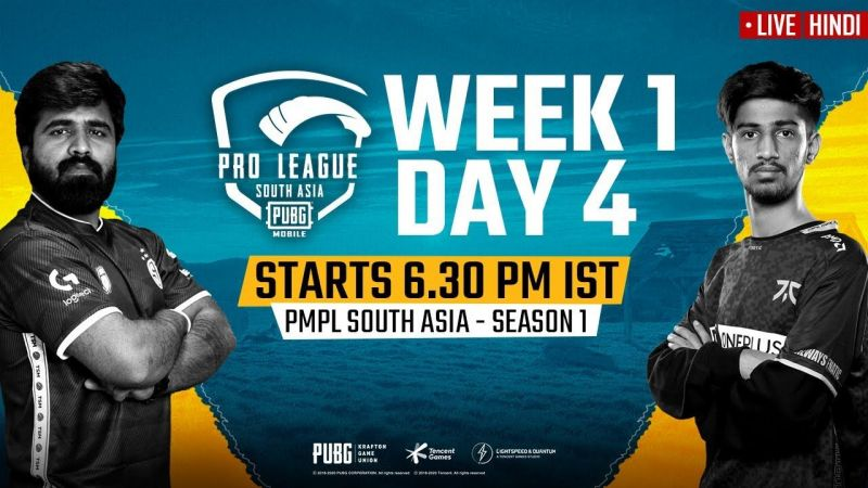 PMPL South Asia 2020 Week 1 Day 4 Schedule