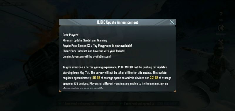 Update Announcement