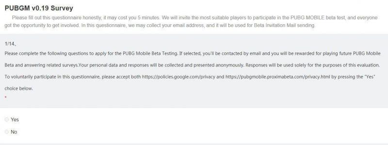 PUBG Mobile 0.19.0 Beta Update