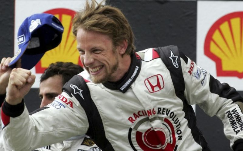 Button got his first win at Hungary in 2006