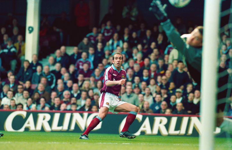 Di Canio in action for West Ham in 2000.